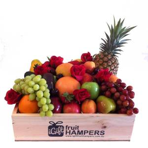 Red Rose Fruit Hamper