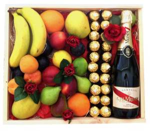 Valentines-Day-Fruit-Gift-Hamper-+-Ferrero-+-Silk-Red-Roses-+-GH-Mumm-Gift-Fruit-Gift-Hampers