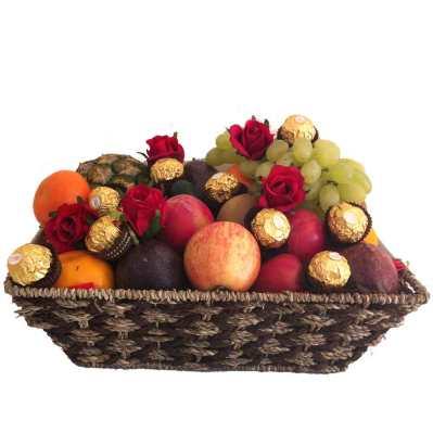 July 2015 fruit hampers fruit baskets gifts delivered fruit basket ferrero chocolates red silk roses delivered free negle Images