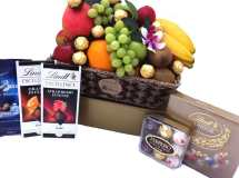 Deluxe Chocolate Fruit Basket